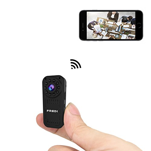 FREDI hidden camera 1080p HD mini wifi camera spy camera wireless camera for iPhone/Android Phone/iPad Remote View with Motion Detection (fredi-L16)