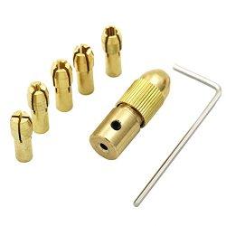 QST 5pcs/Set 0.5-3mm Small Electric Drill Bit Collet Micro Twist Drill Chuck Set Tool (2.35mm)