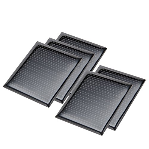 uxcell 5Pcs 5V 60mA Poly Mini Solar Cell Panel Module DIY for Phone Light Toys Charger 50mm x 43mm