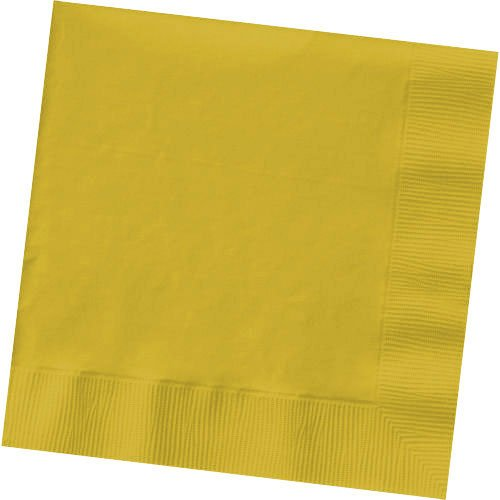 "AMSCAN Big Party Pack Beverage Napkin 125-Pack: 5"" Sunshine Yellow"
