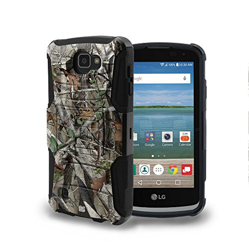 Beyond Cell Optimus Zone 3 Case, K4, VS425, LG Spree Case, Durable High Impact Hard+Soft Hybrid Rugged Case Built in Kickstand&Belt Clip Holster- Autumn Camouflage