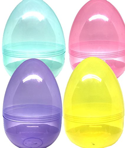 Jumbo 8 Inc Easter Eggs, Set Of 4 different colors Its Huge! By 4E's Novelty