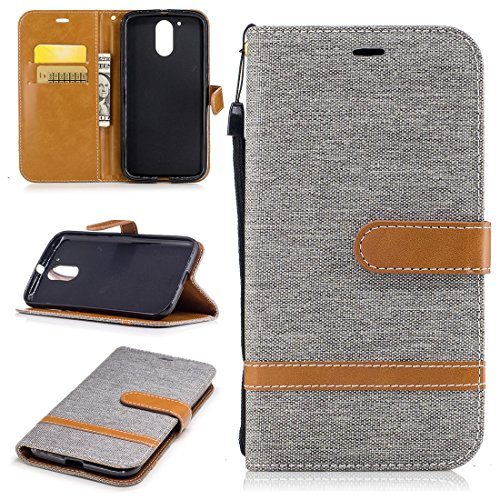 For Moto G4 Case, ANGELLA-M [Drop Protection] Canvas [Denim Material]