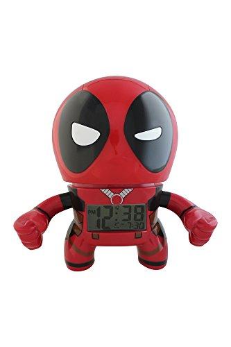Bulb Botz Marvel Deadpool Kids Light Up Alarm Clock | red/black | plastic | 7.5 inches tall | LCD display | boy girl | official