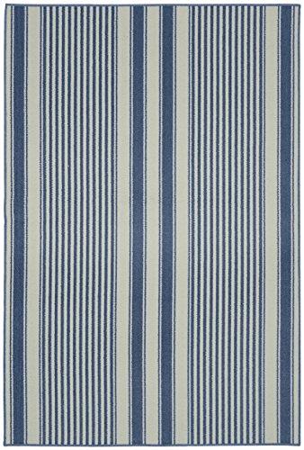 "Garland Rug Cape Cod Area Rug, 6 x 8"", Sky Blue"