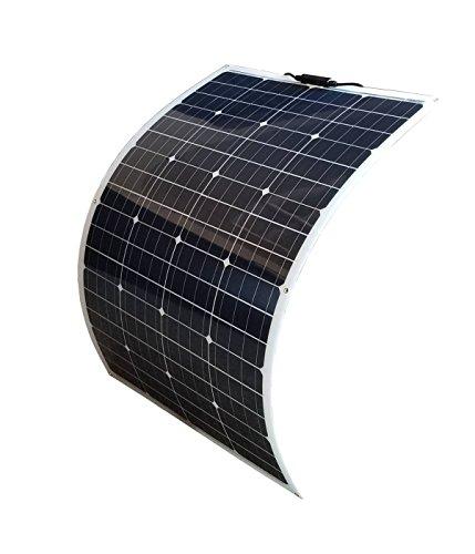 WindyNation 100W 100 Watt 12V Bendable Flexible Thin Lightweight Monocrystalline Solar Panel Battery Charger for RV, Boat, Cabin, Off-Grid