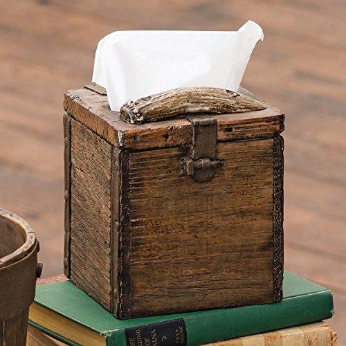 Old Crate Rustic Tissue Box - Lodge Bathroom Accessories