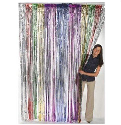 Fun Express Metallic Rainbow Foil Fringe Curtains