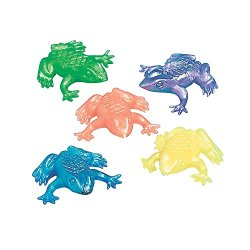 Fun Express Pearlized Squishy Frogs Party Pack (4 Dozen)