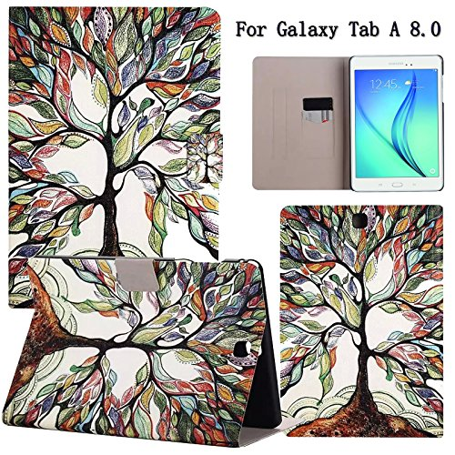 Galaxy Tab A 8.0 Case, Newshine Ultra Slim Lightweight [Stand Feature] Smart Shell with Magnetic [Auto Wake/Sleep]