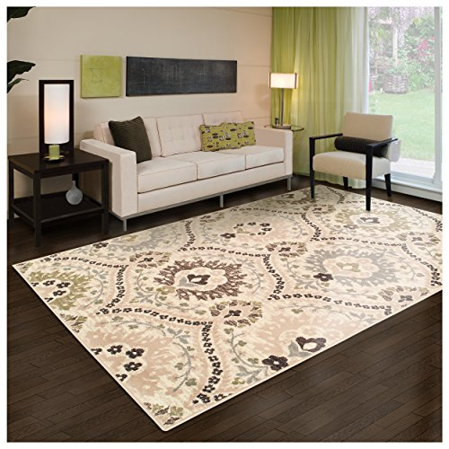 Superior Designer Augusta Collection Area Rug, 8mm Pile Height with Jute Backing