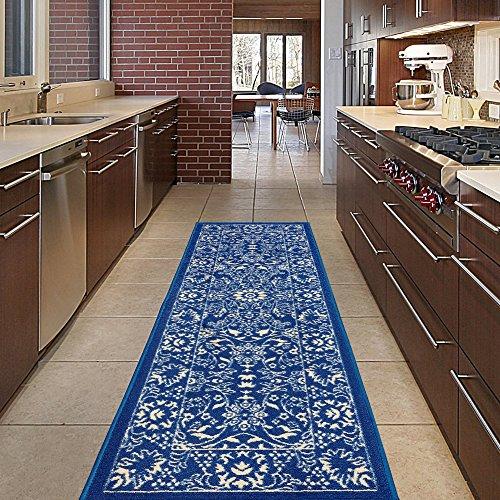 Diagona Designs Contemporary Oriental Mahal Design Non-Slip Kitchen/Bathroom/Hallway Area Rug