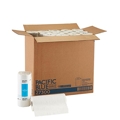"""Pacific Blue Select (Previously Branded Preference) 27300 White 2-ply Perforated Paper Towel Roll by GP PRO, (WxL) 11.000"""" x 8.800"""" (Case of 30 Rolls, 100 Towels per Roll)"""