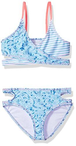 Jantzen Big Girls' Little Neo Nautical Bikini, Maze Print