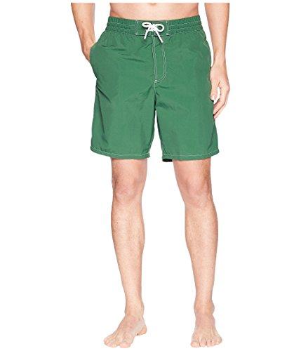 Lacoste Men's Nylon Rear Pocket Croc Long Short, Appalachan Green, L