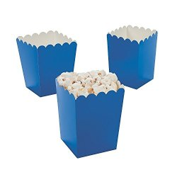 2 Pack of 24 Fun Express Mini Blue Popcorn Boxes