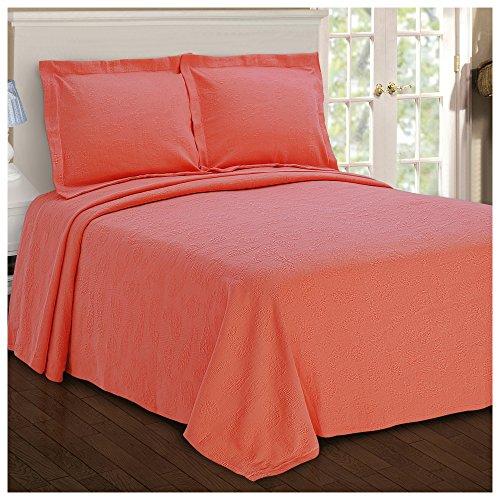 Superior Paisley Jacquard Matelassé 100% Premium Cotton Bedspread with Matching Shams, Twin