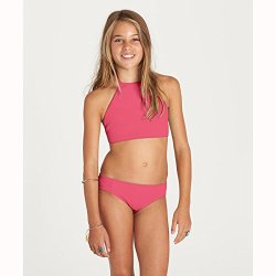 Billabong Little Girls' Sol Searcher Hi Neck Two Piece Swimsuit Set