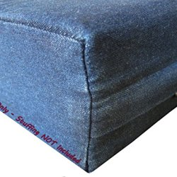 Pet Bed Pillow Blue Denim Duvet Cover and Waterproof Internal case for Dog