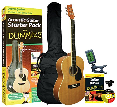 Guitar For Dummies Acoustic Guitar Starter Pack (Guitar, Book, Audio CD, Gig Bag)
