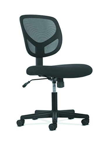 HON Sadie Swivel Mid Back Mesh Task Chair without Arms - Ergonomic Computer/Office Chair