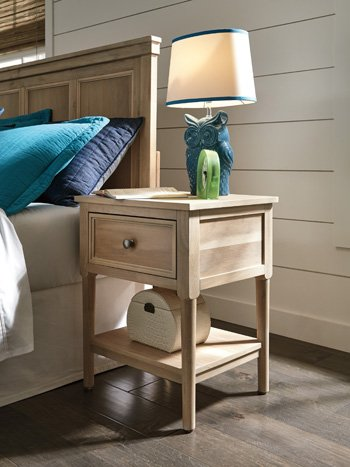 Signature Design by Ashley When Looking Night Stand, Light Brown