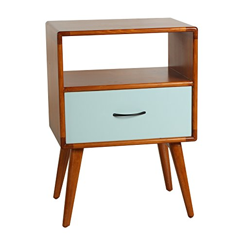 Porthos Home Andrew Mid-Century Side Table, Aqua