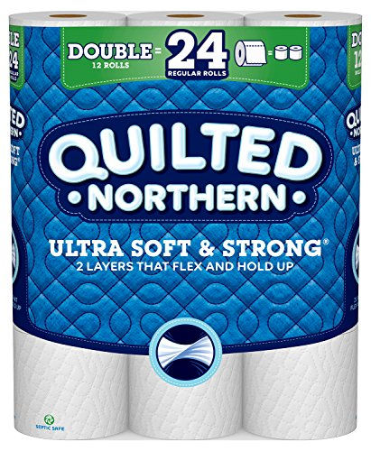 Quilted Northern Ultra Soft & Strong Toilet Paper, Pack of 12 Double Rolls, Equivalent to 24 Regular Rolls-Packaging May Vary