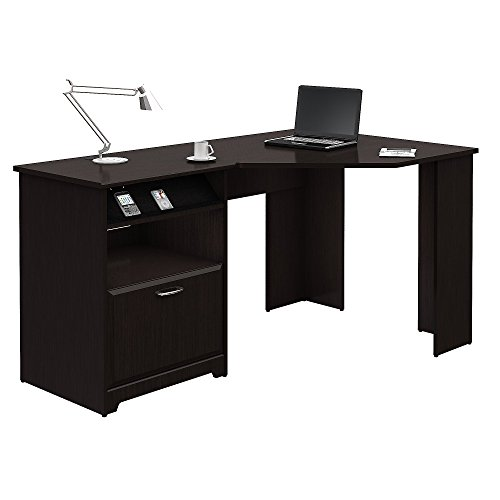 Bush Furniture Cabot Corner Desk in Espresso Oak