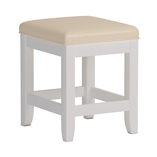 Home Styles Naples Vanity Bench, White Finish