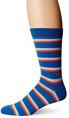 Diesel Men's Ray Socks Stripe, Mediterranian Blue, Sock Size:10-13/Shoe Size: 6-12