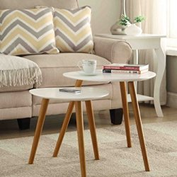 Convenience Concepts Oslo Nesting End Tables, White