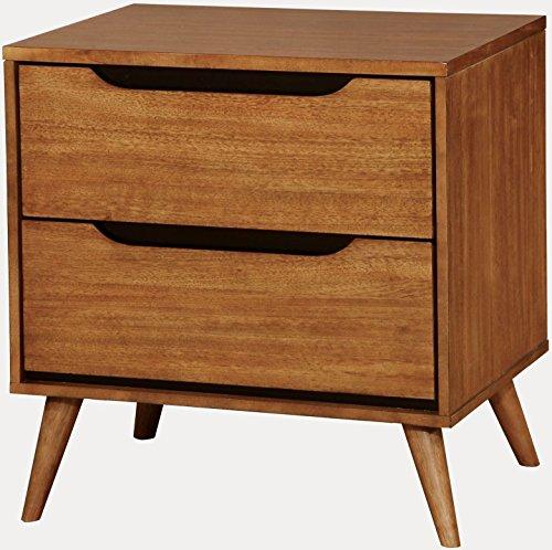 "Furniture of America Lennart Oak Nightstand, 24"" H"