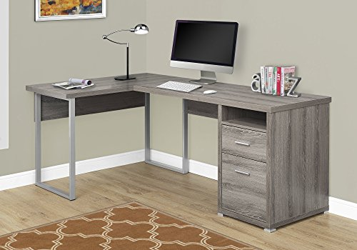 "Monarch Specialties Computer Desk Left or Right Facing Dark Taupe 80"" L"