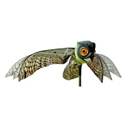 Bird-X Prowler Owl Decoy with Moving Wings Realistic Bird Scare