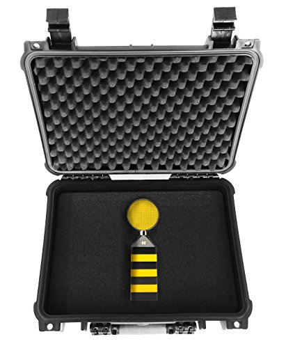 CASEMATIX Protective Waterproof Microphone Hard Case With Customizable Foam - To Travel W/ NEAT Beecaster Desktop USB Mic , Bumblebee , King Bee , Pop Filter , Adapters , Windscreen and More