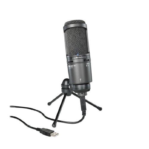 Audio-Technica Cardioid Condenser USB Microphone, Black