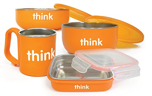 Thinkbaby Complete BPA Free Feeding Set, Orange, 6 Months