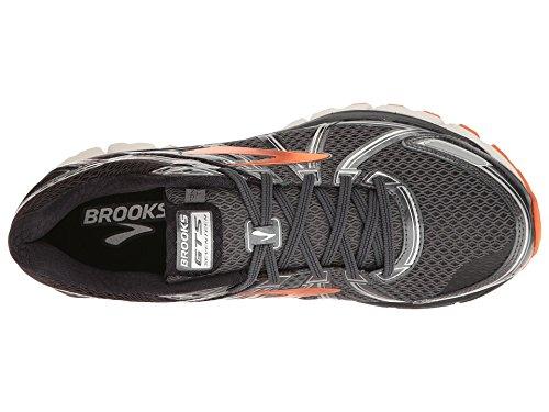 Brooks Men's Adrenaline GTS 17 Black/Anthracite/Red Orange 9 D US