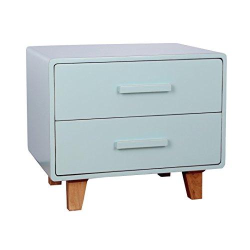 Porthos Home Juniper 2 Drawer Nightstand, Aqua
