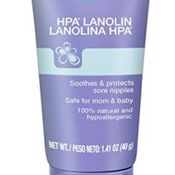 Lansinoh Lanolin Nipple Cream, 100% Natural Lanolin Cream for Breastfeeding, 1.4 oz Tube
