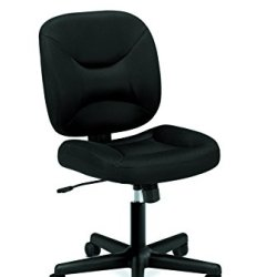 HON ValuTask Low Back Task Chair - Mesh Computer Chair for Office Desk, Black