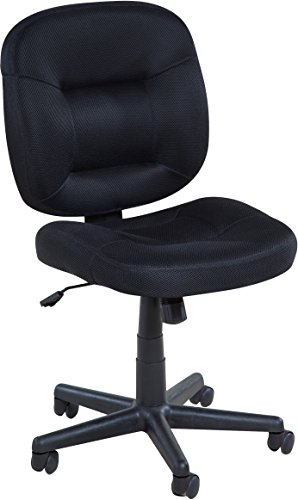 OneSpace Low-Back Black Mesh Task Chair, Nylon Base