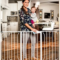 Regalo Extra WideSpan Walk Through Safety Gate, White