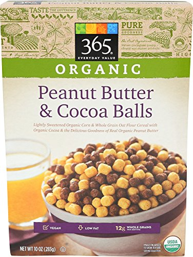 365 Everyday Value, Organic Peanut Butter and Cocoa Balls, 10 Ounce