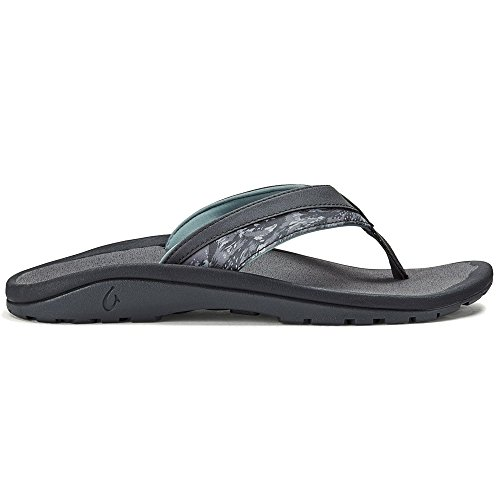 OLUKAI Men's Ohana Koa Sandal (Charcoal/Charcoal, 10)