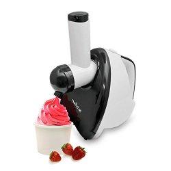 NutriChef Upgraded 2-in-1 Dessert Maker - Salad Shooter, Fruit Blender, Soft Serve, Healthy Snacks, Great For Frozen Yogurt, Ice Cream, Sorbet, Smoothie, Salads