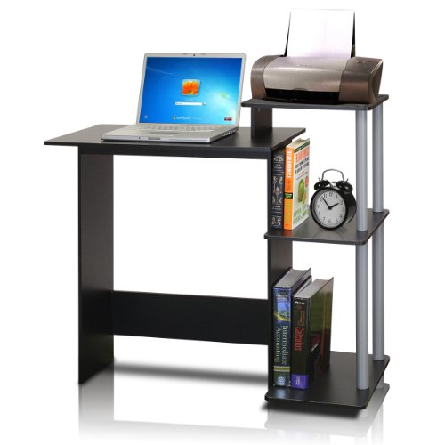 Furinno Efficient Computer Desk, Black/Grey