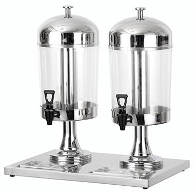 Chef's Supreme - 8 L Stainless Dual Bowl Juice Dispenser