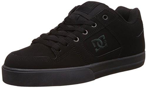 DC Men's Pure Skate Shoe, Black/Pirate Black, 12 D M US